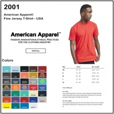 Personalize - American Apparel 2001 - Men's Jersey T-Shirt