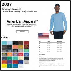 Personalize -American Apparel 2007 - Unisex LS Tee