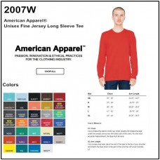 Personalize -American Apparel 2007W - Unisex LS Tee