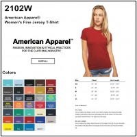 Personalize - American Apparel 2102W - Ladies' Fine Jersey Tee