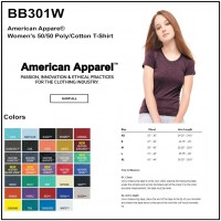 Personalize -American Apparel BB301W - Women's Short Sleeve Tee