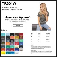Personalize -American Apparel TR301W - Women's Tri-Blend Short Sleeve Track Tee