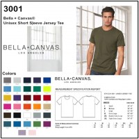 Personalize -Bella Canvas 3001 - Unisex Short Sleeve Jersey Tee