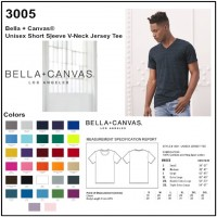 Personalize -Bella Canvas 3005 - Unisex Jersey V-Neck Short Sleeve Tee