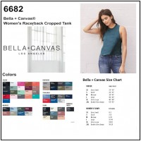 Personalize -Bella Canvas 6682 - Women's Racerback Cropped Tank