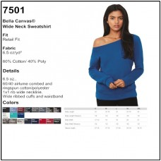Personalize -Bella Canvas 7501 - Wide Neck Sweatshirt