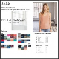 Personalize -Bella Canvas 8430 - Women's Triblend Racerback Tank