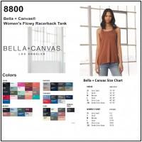 Personalize -Bella Canvas 8800 - Women's Flowy Racerback Tank