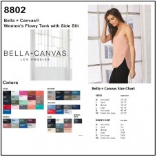 Personalize -Bella Canvas 8802 Women's Flowy Side Slit Tank