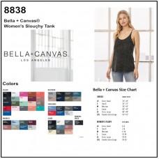 Personalize -Bella Canvas 8838 - Women's Slouchy Tank