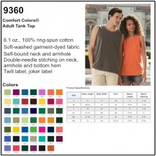 Personalize -Comfort Colors 9360 - Adult Tank Top