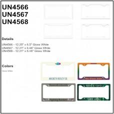 Personalize - Aluminum License Plate Frames