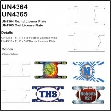 Personalize - Action Ball Aluminum License Plates