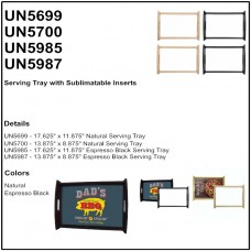Personalize - Serving Tray with Sublimatable Insert (Kit)