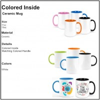 Personalize - Colored Inside and Handle Coffee Mugs