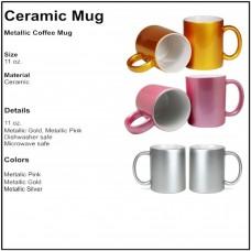 Personalize - Metallic Finish Coffee Mugs