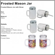 Personalize - Mason Jar - Frosted