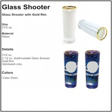 Personalize - Glassware Glass Shooter With Gold Rim