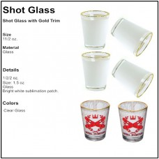 Personalize - Shot Glass With Gold Rim