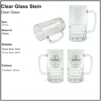 Personalize - Clear Glass Beer Stein