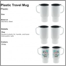 Personalize - Plastic Travel Mug (15 oz)