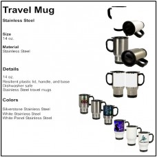Personalize - Stainless Steel Travel Mug (14 oz)