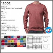 Personalize - Gildan 18000 - Heavy Blend Crewneck Sweatshirt