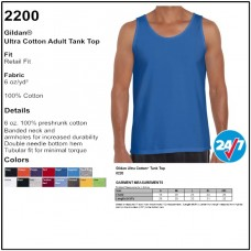 Personalize - Gildan 2200 - Ultra Cotton Tank Top