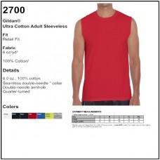 Personalize - Gildan 2700 - Ultra Cotton Sleeveless T-Shirt