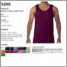 Personalize - Gildan 5200 - Heavy Cotton Tank Top