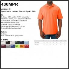 Personalize - Jerzees 436MPR - Spotshield Unisex Pocket Jersey Sport Shirt