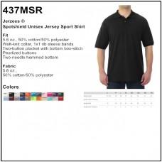 Personalize - Jerzees 437MSR - Spotshield Unisex Jersey Sport Shirt