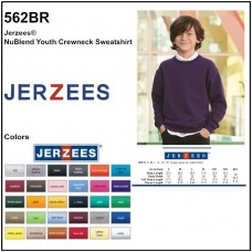 Personalize -Jerzees 562BR - NuBlend Youth Crew Sweatshirt