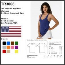 Personalize -Los Angeles Apparel TR3008 - Woman's Tri-Blend Racerback Tank