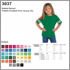 Personalize -Rabbit Skins 3037- Toddler Fine Jersey Football T-Shirt