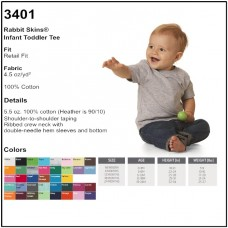 Personalize - Rabbit Skins 3401 - Infant Tee