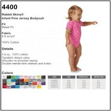 Personalize - Rabbit Skins 4400 - Infant Bodysuit