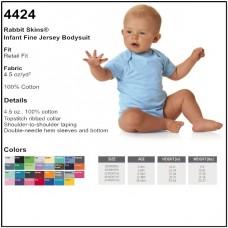 Personalize - Rabbit Skins 4424 - Infant Unisex Fine Jersey Bodysuit