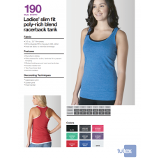 Personalize -Tultex 190 - Ladies' Slim Fit Poly-Rich Racerback Tank
