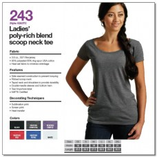 Personalize - Tultex 243 - Ladies' Poly-Rich Blend Scoop Neck T-Shirt