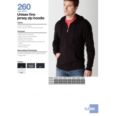 Personalize -Tultex 260 - Unisex Fine Jersey Zip Hoodie